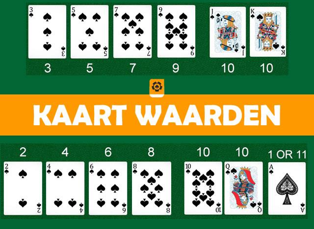 blackjack kaart waarden