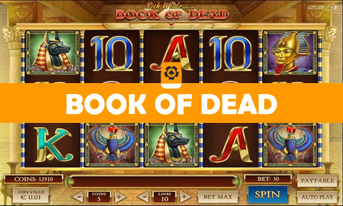 book of dead videoslot