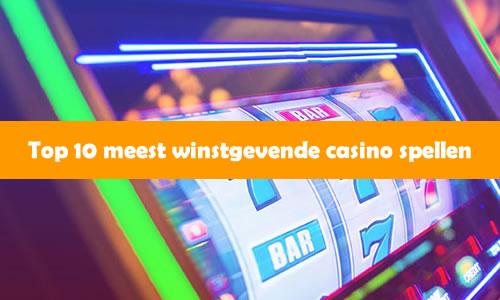 Top 10 meest winstgevende casino spellen