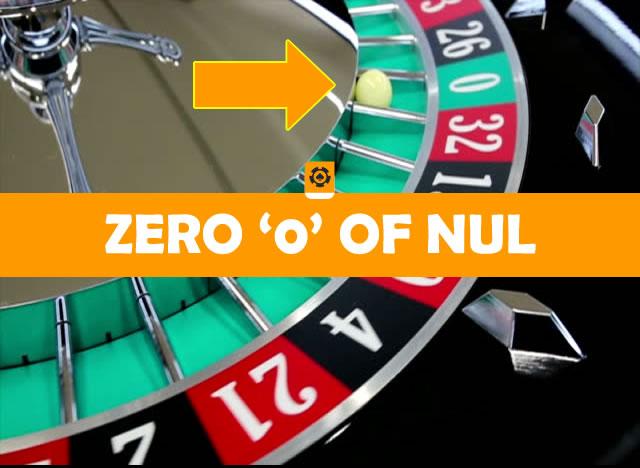 Zero ofwel nul bij roulette